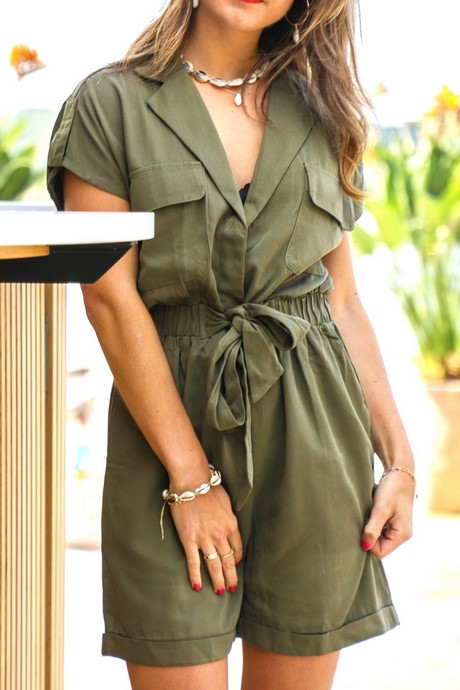 Playsuit legergroen