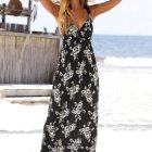 Maxi dress zwart wit gestreept