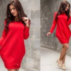 Sweater dress rood