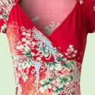 King louie 50s gina maiko flamingo dress in red